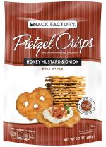 Snack Factory Pretzel Crisps, Honey Mustard & Onion, 7.2 Ounce (Pack of 12)