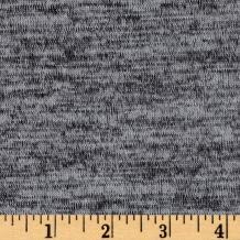 TELIO Light Grey Topaz Hatchi Knit Fabric by The Yard