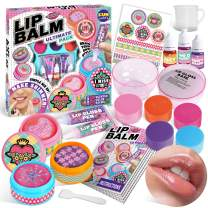Real Lip Balm Kit For Kids, FunKidz Lip Gloss Crafts Kit Make Your Own Colorful Designed Balm With 5 Fragrances Perfect Birthday Present Makeup Kit For Girls Ages 6 And Up