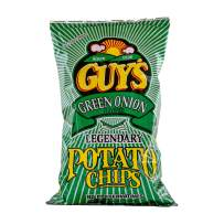 Guys Green Onion Potato Chips – A Super Flavorful Green Onion Chip w/Legendary Taste – Chip and Dip in One Crunch Make Tasty Guy Snacks, Bulk Office Snacks 15 (8 oz Bags)