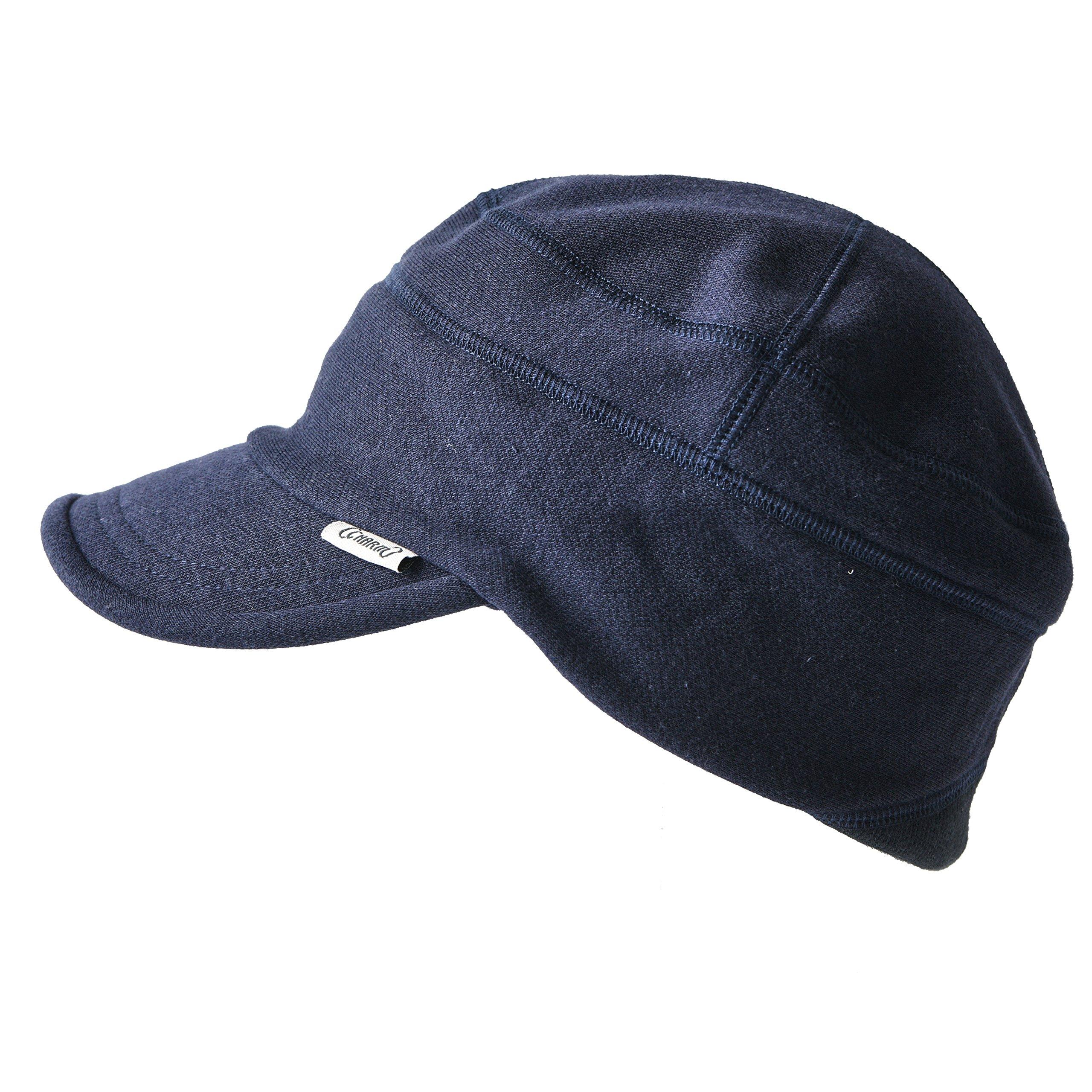 CHARM Mens Cotton Baseball Military Hat - Womens Summer Stretch Peak Cap Winter