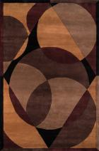 Momeni Rugs New Wave Collection, 100% Wool Hand Carved & Tufted Contemporary Area Rug, 2' x 3', Brown