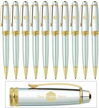 Dayspring Pens | Business Logo Engraved on 10 Cross Bailey Medalist Ballpoint Pens. Sold in Lots of 10. Customized with your Corporate Brand or Company Logo. by Dayspring Pens.