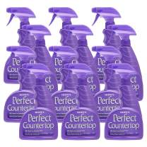 Hope's Perfect Countertop Cleaner and Polish 22-Ounce, Streak-Free Multi-Surface Cleaning Spray, Safe on Stone, Laminate, CORIAN, Granite, Quartz, Marble, Pack of 12, 12 Pack