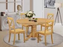 East West Furniture AVBO5-OAK-W Avon set, Oak