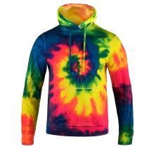 Magic River Tie Dyed Hoodies - Tie Dye Hooded Sweatshirt - 6 Adult Sizes - 4 Color Patterns