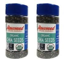 Rawseed Organic Chia Seeds 3 oz 2 Pack Shaker Jar USDA Certified Organic, Non-GMO, Gluten-Free