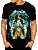 SFYNX 'Babylon' Men's Rave T Shirt - Glow in The Dark EDM Clothing - Black Light Reactive Tee