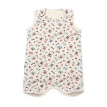 WithOrganic Cozy Thermal Wearable Blanket Vest, Sleep Sack - Certified 100% Organic Cotton