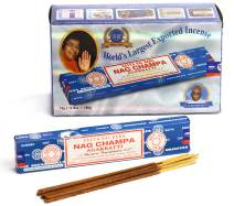 Satya Sai Baba Nag Champa Agarbatti Pack of 12 Incense Sticks Boxes 15gms Each Fine Quality Incense Sticks for Relaxation, Meditation, Positivity and Peace
