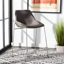 Safavieh Home Collection Alexis Mid-Century Matte Ash Grey Counter Stool