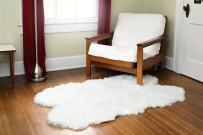 Silky Super Soft White Faux Sheepskin Shag Rug Faux Fur - Machine Washable Great for Photography or Decor Get The Real Look Without Harming Animals (Quad Pelt (3 feet x 5 feet)