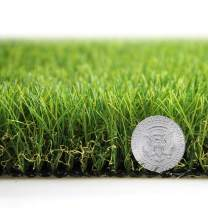 Artificial Grass Turf Lawn Fake Grass Mat Thick Synthetic Turf Rug Indoor Outdoor Carpet Garden Lawn Landscape Rubber Backed with Drainage Holes,1.77inch Pile Height (9.8ft x 7ft=68.6 Square ft)