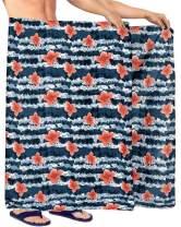 LA LEELA Men's Full Loungewear Sarong Lungi for The Beach Cover Ups Wrap Holiday