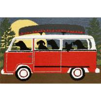 "Liora Manne Frontporch Indoor/Outdoor Rug, 2'6"" x 4', Camping Trip"