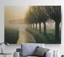 Renditions Gallery Landscape Pictures Artwork Giclee Print Canvas Art Ready to Hang for Home Wall Decor, 24x36, Willow's Lane
