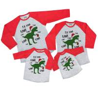 7 ate 9 Apparel Matching Family Christmas Shirts - Christmas Dinosaur Red Shirt