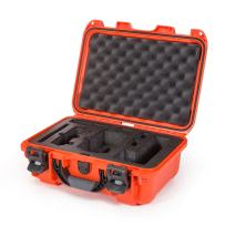 Nanuk Drone Waterproof Hard Case with Custom Foam Insert for DJI Mavic Air Fly More Combo - Orange