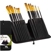 WA Portman Artist Paint Brush Set - Multifunctional Watercolor Gouache Oil Acrylic Brush Set - 15 pc Synthetic Hair Paint Brushes in Pop Up Holder Ideal Travel Brush Set for Plein Air Painting