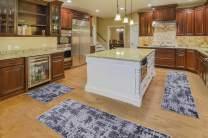 Msrugs 3 Piece Bath Mat Absorbent Soft Kitchen Floor Area Rug Non-Slip Carpet Set