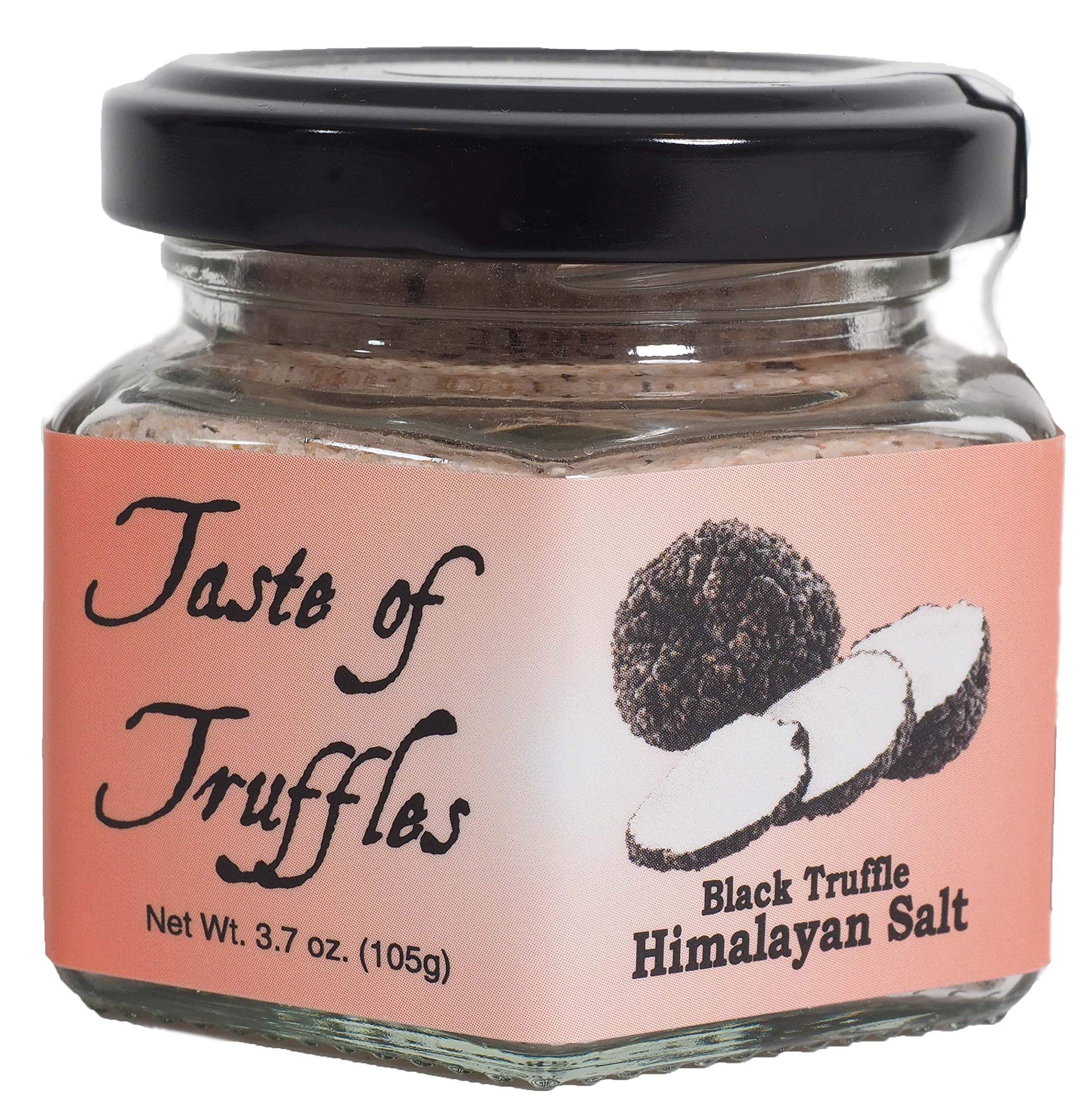 Black Truffle Himalayan Pink Salt   Gourmet Food Condiments   (wt. 3.7 oz/105 gr.)