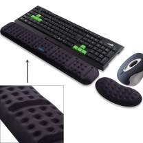 BRILA Upgraded Ergonomic Keyboard and Mouse Wrist Rest Support Cushion Pad Set - Comfy Soft Memory Foam Gel Padding & Non-Slip Palm/Hand/Wrist Pain Relief Rest Pad for Office Work, PC Gaming, Laptop