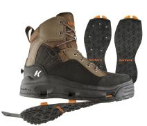 Korkers Buckskin Wading Boot with Kling-On and Studded Kling-On Outsoles