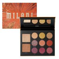 Milani Gilded Ember Eyeshadow Palette- 2 in 1 Palette For Your Face and Eyes, Face Highlighter and Eyeshadow Palette