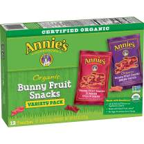 Annie's Organic Bunny Fruit Snacks, Variety Pack, Gluten Free, 12 ct, 9.6 oz