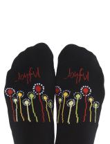 Toe Talk Joyful Non Slip Grip Socks for Yoga Meditation & Tai Chi