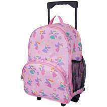 Wildkin Kids Rolling Luggage for Boys and Girls, Carry on Luggage Size is Perfect for School and Overnight Travel, Measures 16 x 12 x 6 Inches, BPA-free, Olive Kids (Fairy Princess), (Model: 85417)