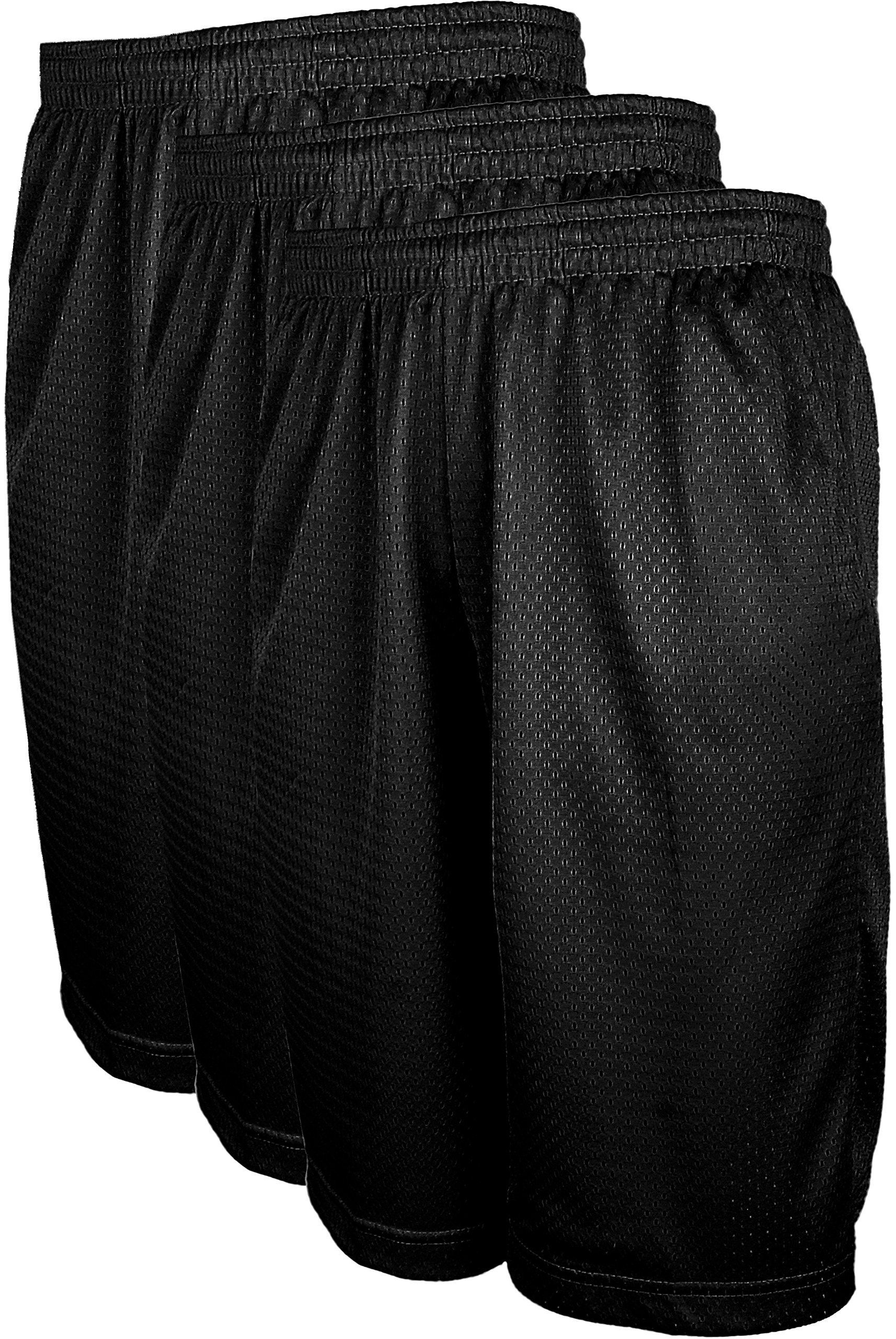 ViiViiKay Men's Athletic Basketball Shorts - Mesh Workout Gym Shorts with Pocket SET3_BLK_BLK_BLK 3XL