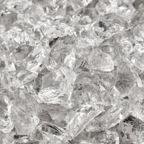 Crushed Ice - Crushed Fire Glass for Indoor and Outdoor Fire Pits or Fireplaces | 10 Pounds | 3/8 Inch - 1/2 Inch
