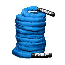"REP FITNESS V2 Battle Ropes - PolyDacron Battle Rope for Strength and Conditioning Workouts – 1.5"" and 2"" Diameter, 30ft, 40ft, 50ft Lengths with Optional Cover Sleeve"