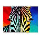 Zebra Artwork by DawgArt, 18 by 24-Inch Canvas Wall Art