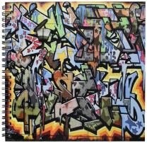 3dRose db_53876_1 Graffiti Wall Art Lettering Drawing Book, 8 by 8-Inch