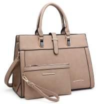 MARCO M KELLY Women Satchel Handbags Ladies Shoulder Purses Designer Totes Top Handle Work Bag with Wallet