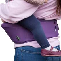 Hippychick Hipseat Baby Carrier – The Easy, No-Fuss Baby Carrier That Takes Care of Your Back - Purple