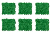 "Beistle S55640AZ6 Tissue Grass Mats 6 Piece, 15"" x 30"", Green"