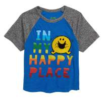 Mr Happy Toddler in My Happy Place Short Sleeve T-Shirt