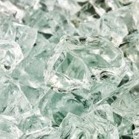Arctic Ice - Fire Glass for Indoor and Outdoor Fire Pits or Fireplaces | 10 Pounds | 1/2 Inch