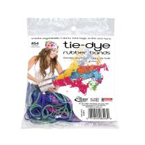 Alliance Rubber 06543 Tie-Dye Rubber Bands, Non-Latex Assorted 2 oz Pack (Assorted Sizes and Colors -#12, #18, #32, #64)