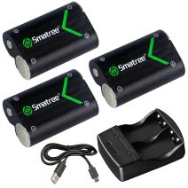 Smatree Rechargeable Battery Compatible for Xbox One/Xbox One S/Xbox One X/Xbox One Elite Wireless Controller, 3X 2000mAh Batteries with Charger