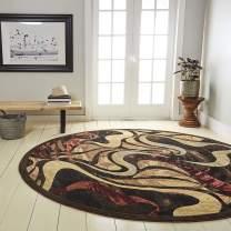 "Home Dynamix Catalina Picasso Area Rug, 7'10"" Round, Black, (Model: )"