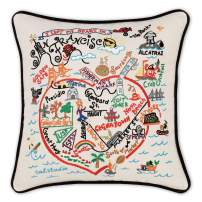 Catstudio San Francisco Hand-Embroidered Decorative Throw Pillow | Beautiful Award Winning Home Decor Artwork | Great for The Living, Family, Bed Rooms