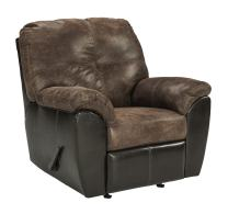 Signature Design by Ashley - Gregale Weathered Faux Leather Contemporary Rocker Recliner, Coffee Brown