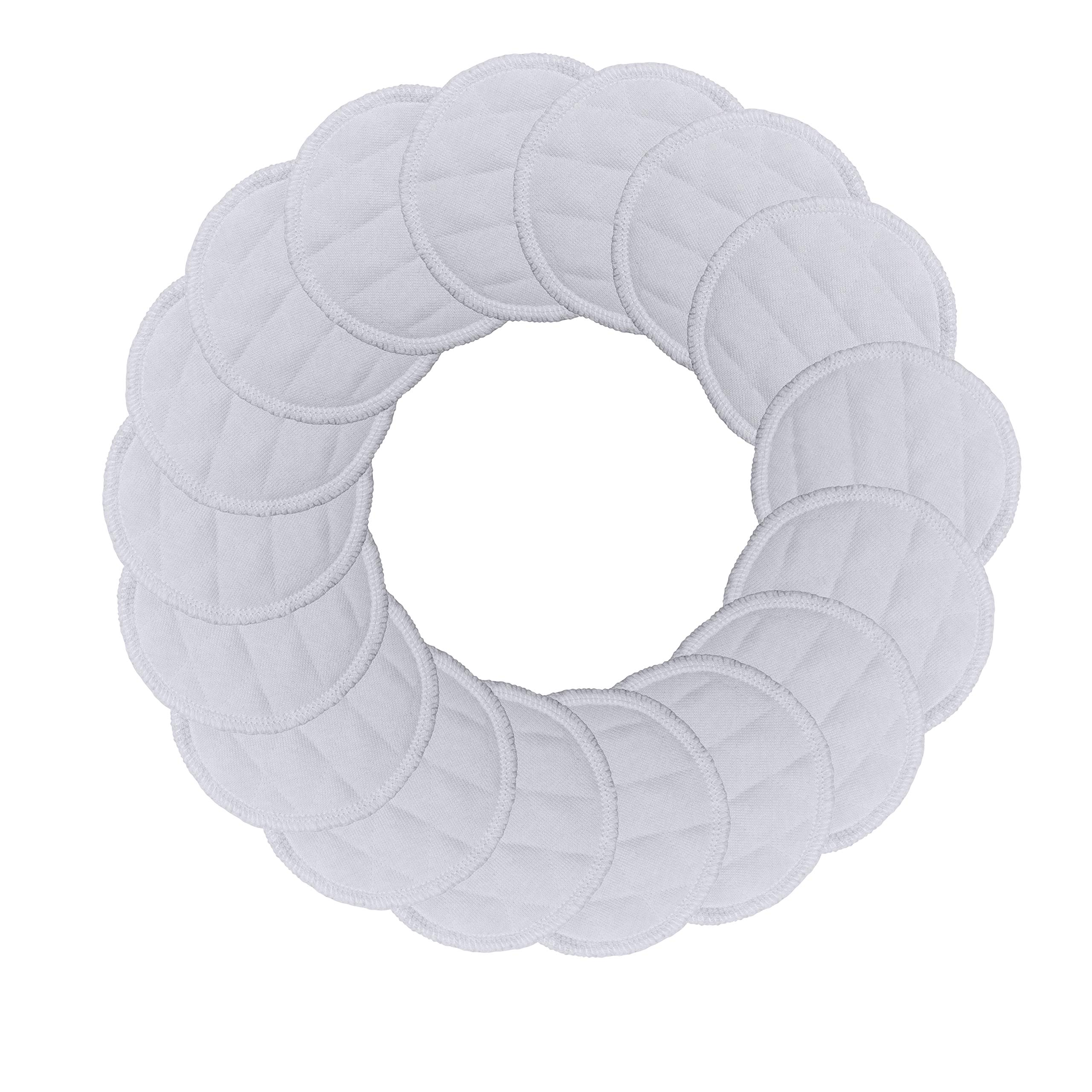 Best Organic Cotton Makeup Remover Pads - 20 Pack - Reusable & All-Natural Fibers, GOTS-Certified Material - Washable, Hypoallergenic Face Wipes - Great for Sensitive Skin, Nature-Friendly Alternative