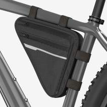 Velmia Triangle Bike Bag [Waterproof] - Functional Frame Bag with Lots of Space - Innovative Triangle Bicycle Bag with Secure Hold and Reflective Elements - Simple mounting