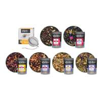 Tiesta Tea Box for Bae Tea Sampler Set - Loose Leaf Tea Gift Set including 6 Sampler Pouches & 1 Tea Ball, Tea gift for tea lovers, Perfect as Valentines Day Gift for Him or Her