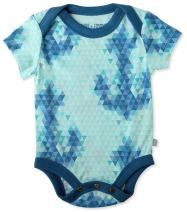 Finn + Emma Organic Cotton Lap Bodysuit for Baby Boy or Girl – Anchor, 3-6 Months